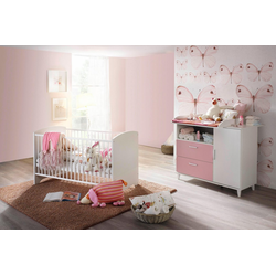 Babymöbel-Set Nizza, (Spar-Set, 2-tlg), Bett + Wickelkommode