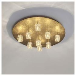 Holländer Deckenleuchte 9-flammig Lucente Eisen-Kristallglas Gold