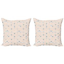 Abakuhaus Kissenbezug Modern Accent Doppelseitiger Digitaldruck, Abstrakt Pastellkristalldiamanten grau 50 cm x 50 cm
