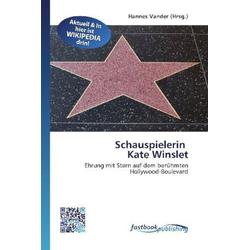 Schauspielerin Kate Winslet als Buch von