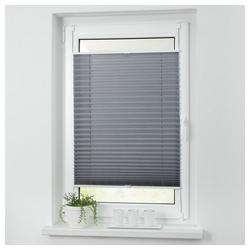 Plissee ohne Bohren Faltstore Fensterrollo Jalousie Faltrollo Plisee Klemmfix, i@home grau 55 cm x 200 cm