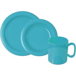 WACA Frühstücks-Geschirrset, (Set, 6 tlg.) blau Frühstücksset Eierbecher Geschirr, Porzellan Tischaccessoires Haushaltswaren Frühstücks-Geschirrset