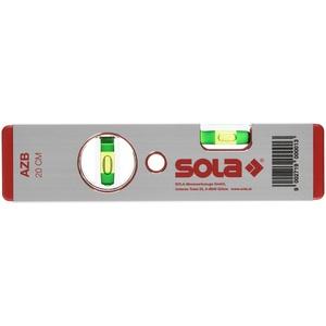 """Sola 1010101 Alu-Wasserwaage""""AZB 20"""" 20 cm in rot, 200 mm"""