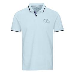 BASEFIELD Poloshirt ORGANIC COTTON mit Logo-Print auf der Brust blau XXL
