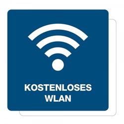 3 Stück Hinweis-Aufkleber - Kostenloses WLAN (150x150 mm)