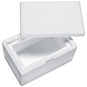 Isolierbox mit Deckel aus Styropor EPS, 260 x 170 x 150 mm, 1,7 Liter
