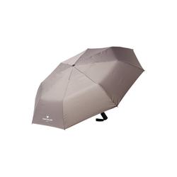 TOM TAILOR Taschenregenschirm Kleiner Automatik Regenschirm grau