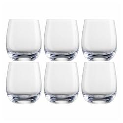 Eisch Whiskyglas 6er Set Tumblers 360 ml, Kristallglas beige