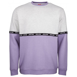 Sweatshirt SANTA CRUZ - Mixtape Crew Athletic Heather/Violet (ATHLETIC HEATHER-VIO)