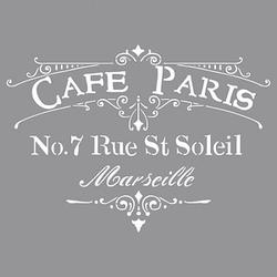 Rayher Dekor-Schablone Café Paris grau