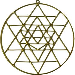Guru-Shop Dekoobjekt Sonnenfänger, Suncatcher - Yantra gold
