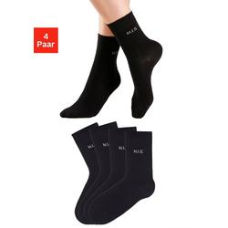 H.I.S Socken (4-Paar) ohne einschneidendes Bündchen schwarz 39-42
