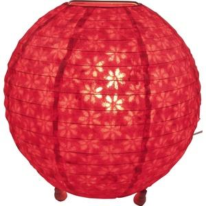 Guru-Shop Corona Round Runde Lokta Papier Stehlampe 25 cm, Rot, Lokta-Papier, Farbe: Rot, Deckenleuchte Kugelförmig