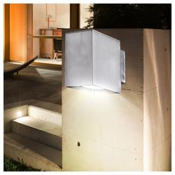 etc-shop LED Aufbaustrahler, LED Außen Wand Leuchte Energie Spar Alu Lampe Beleuchtung Down Strahler