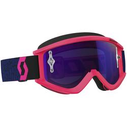 Scott Recoil XI Works Motorcross bril blauw/Fluo roze chroom, pink-blauw, Eén maat