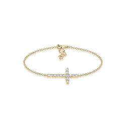 Elli Armband Kreuz Kristalle 925 Sterling Silber