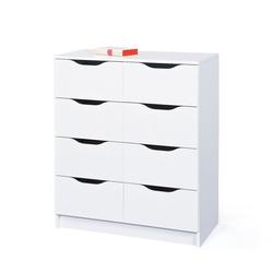 Apothekerkommode in Weiß 8 Schubladen