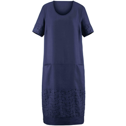 Abendkleid Kleid mit 1/2-Arm Anna Aura blau