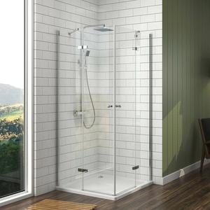 Duschabtrennung Dusche 120x90 80x120 Rahmenlos Duschkabine Duschwand Nano Glas