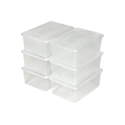 tectake Stapelbox Aufbewahrungsboxen 6er Set