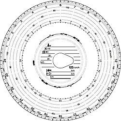 RNK Diagrammscheibe 125 Weiß/Rot 100 Stück