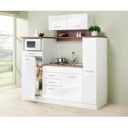 HELD MÖBEL Küchenzeile Monaco, Breite 190 cm weiß