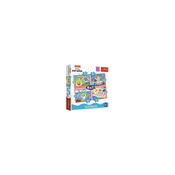Trefl Puzzle 4 in 1 Puzzle The Shark family - Baby Shark,, Puzzleteile