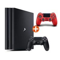 Sony PS4 Pro 1TB + Dualshock 4 Wireless Controller rot