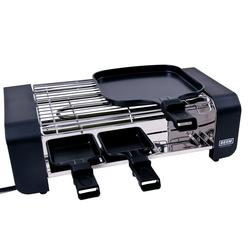 900 Watt Tisch Grill Raclette Pfännchen Holz Spatel Antihaft BEEM 1.115.768