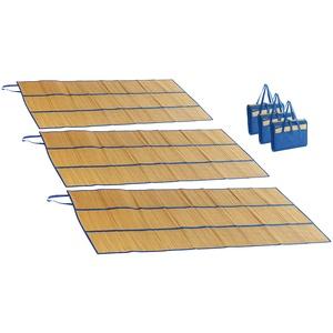 3er-Set faltbare Bast-Strandmatten mit Tragegriffen, 180 x 90 cm
