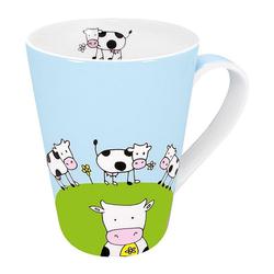 Könitz Becher Globetrotter Cow 420 ml, Porzellan