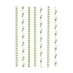 Amscan Einweggeschirr-Set Grüne Party Strohhalme aus Papier 24 Stück, Papier