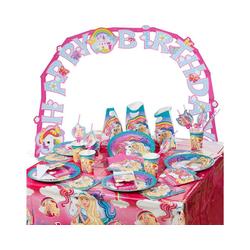Amscan Kindergeschirr-Set Partyset Barbie Dreamtopia, 62-tlg.