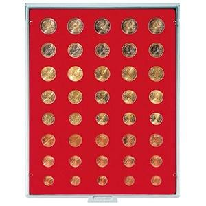 LINDNER Das Original Münzbox Standard für 5 Euro-Kursmünzensätze