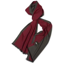 Posh Gear Seidenschal Seiden Schal Silk Bicolor aus 100% Seide rot