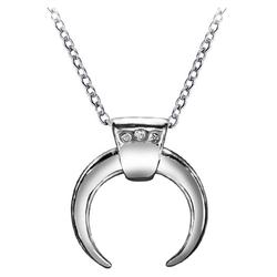 Everneed Luna Mond Halskette - Silber (U)