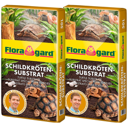 Floragard Terrarien-Substrat, (2-St), je 50 l, für Schildkröten und Terrarien