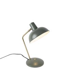 Retro Tischlampe grau mit Bronze - Milou