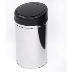 HOMCOM Abfalleimer mit IR Sensor und Inneneimer silber 30,5 x 30,5 x 55,5 cm (LxBxH)   Auomatik Mülleimer Kücheneimer mit Sensor Abfall
