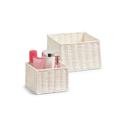 HTI-Living Aufbewahrungsbox Aufbewahrungskörbchen-Set, 2-teilig Papiergeflecht (2 Stück), Aufbewahrungskorb weiß