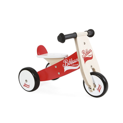 Janod - Little Bikloon Laufrad Sitzhöhe 22. 5 Cm Rot/weiß