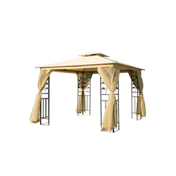 Outsunny Pavillon Luxus Pavillon mit wasserabweisenden Dach