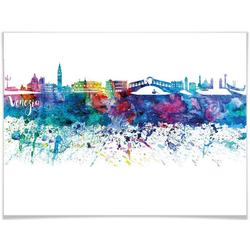 Wall-Art Poster Graffiti Bunt Venedig Skyline, Graffiti (1 Stück) 120 cm x 100 cm x 0,1 cm