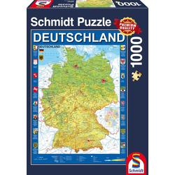 Deutschlandkarte 1.000 Teile Puzzle