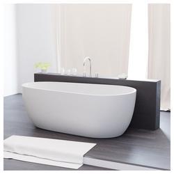 TroniTechnik Badewanne Freistehende Badewanne Dia, (1-tlg), aus glasfaserversärktem Acryl, mit Überlauf-Ablauf und Push-to-open Abfluss