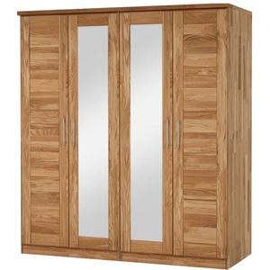 Schlafzimmerschrank aus Wildeiche Massivholz Spiegeltüren