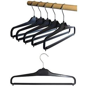 Hagspiel 10 St. Hosenbügel aus Kunststoff, schwarz