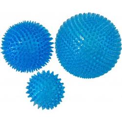 Drijvende Bal Met Stekels Blauw  per stuk 020-6202 12,5 cm.