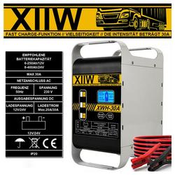 XIIW 400Ah Autobatterie Ladegerät 12/24V Kfz Pkw 30A Batterie Starthilfe Werkstatt Autobatterie-Ladegerät