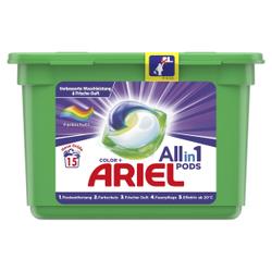 Ariel All in 1 PODS Colorwaschmittel, Waschmittelpods für strahlende Kleidung ohne Flecken, Box für ca. 15 Waschladungen